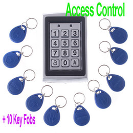 Wholesale RFID Entry Metal Door Lock Access Control System Key Fobs H4391