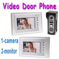 Wholesale 7 Inch Video Door Phone Doorbell Intercom Kit camera monitor Night Vision DHL Dropshipping H8185
