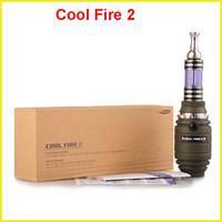 Single Green Metal Original Innokin Cool Fire 2 II starter VV mod Max Vapor kit with Rotatable 3.0ml iClear 30B atomizer via DHL