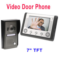 Wholesale 7 quot TFT Color Display Wired Video Door Phone Doorbell Intercom System DHL Dropshipping H8369