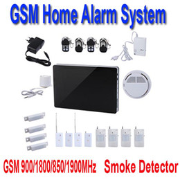 Wholesale GSM Home Alarm System Kit Smoke Detector Support iOS and Android Application H9600