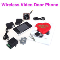 Wholesale 2 GHz quot TFT Wireless Video Door Phone Intercom Camera Night Vision Visual Doorbell Home Security H10135