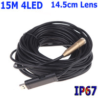 Wholesale 15M USB Waterproof Mini Borescope Endoscope Inspection Pipe Snake Tube Micro CCTV Cameras Security mm Lens LED CMOS H10743