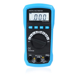 Wholesale Digital Multimeter DMM Temperature Measurement Auto range Max Data Holding LCD Backlight H10190