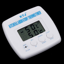 Wholesale LCD Digital Timer amp Thermometer Alarm Cooking Kitchen BBQ Food H8007