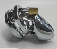 Male Chastity Cage  Small Male Stainless Steel Chastity Device Cock Cage Men Chastity Belt ring size:4cm,4.5cm,5cm 3 Sizes