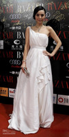 Wholesale New Sexy Evening dresses one shoulder formal dresses chinese star Celebrity Dresses st035
