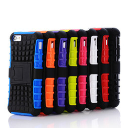 2 in 1 KickStand Rugged Heavy Duty TPU+PC Hybrid Shock Proof Cover Cases For Iphone 4 4s 5 5s SE 5c 6 6s TOUCH 6 Galaxy s4 s5 s5 mini 10PCS
