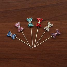 Lot Of 36 Pcs fashion bowknot Rhinestone Hijab Pin Broochi pin Scarf Hijab Pin free shipping