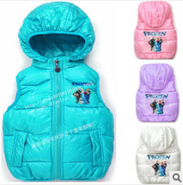 Wholesale Frozen Children s Tank kids boys Tops no sleeveless horse vest with hood girl clothes winder coat jacket tutu dress