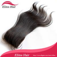 "Brazilian Virgin Hair Natural Color 1B Natural Straight Silk Base Top Closure In Stock Queen Hair Natural Straight Brazilian Hair Silk Base Lace Closure 8"" -18"" 4x4 Natural Color #1B"