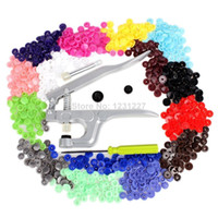 Wholesale Wholesale2014 Rushed Real Crimper Ferramentas Knife Fastener Snap Pliers Kam Button Set T5 Plastic Resin Press Stud Cloth Diaper407