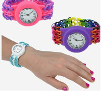 Casual Children's Not Specified Loom Watch DIY Knitting Braided loom Watch Rainbow Kit Rubber Loom Bands Self-made Silicone Bracelet (Watch+Rubber+Clip+Hook) Hot gift