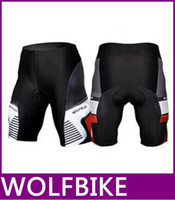 Wholesale new Sportswear Men cycling clothing Bicycle Mountain Road downhill Bike Coolmax Padded Cycle Shorts Black Tights new top sale