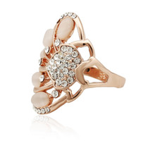 Cheap Solitaire Ring austrian crystal Best Bohemian Women's rose gold ring