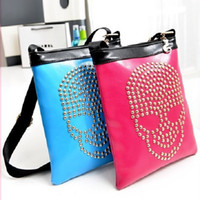 Cross Body Women Plain Hot Sale Fashion Women Skull Rivet Designer Envelope Handbags Bags Leather Shoulder Bag Cross Body Hot Products free shipping