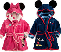 Wholesale BSY001 Children Pajamas Robe New Kids Micky Minnie Mouse Bathrobes Baby Cartoon Home Wear