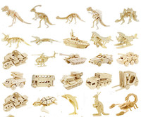 Wholesale 3D Puzzle dimensional wooden model toy wooden animal puzzle styles you can choose