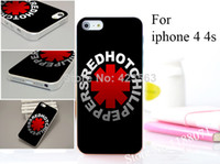 For Apple iPhone Plastic hard transparent pc 1PC For iphone 4 4s 4g 4th Hard Matte Transparent case coverIZC118 Red Hot Chili Peppers Series