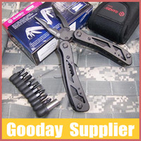 multi-tools and knives - WholesaleGANZO Originial Multi Tool Function in Pliers Knife Folding Knife Best Equip for outdoor Package with Box and Sheath407