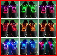 Halloween   High quality Fashion LED Flashing shoelace light up shoe laces Shoelaces gifts 200,100pairs lot