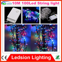 Wholesale 1pc LED V V Xmas Party m led String Fairy light rgb Christmas Party Wedding M led Christmas LED Light