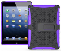 Wholesale 2 in KickStand Impact Rugged Heavy Duty TPU PC Hybrid Shock Proof Cover Case For Apple ipad mini