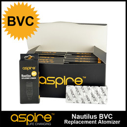 Wholesale ohm aspire BVC coil head Bottom Vertical Coil work on nautilus much Huge vapor much better taste and more stable high quality