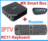 Wholesale RC11 Fly Mouse Droibox MX Dual Core Smart TV Box XBMC P HDMI IPTV HOT Media Player Network Streamer Droidplayer MX2 G Box Rooted