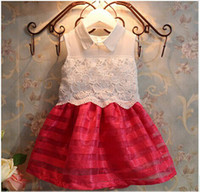 Girl Summer Sleeveless 2014 summer new Korean temperament hit the color dress ultra-Kids girls summer dress children's clothing