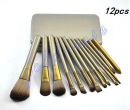 Wholesale Makeup Tools Brushes Nude piece Professional Brush sets Iron box gift