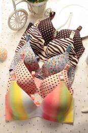 Wholesale Details about Elegant womens sexy stripe one piece seamless push up bra set underwear set Tops