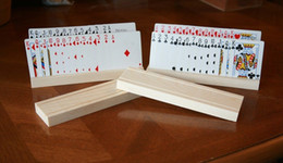 Wholesale 2 Knotty Pine Playing Card Holders Handcrafted Hand Rubbed Finish Toys
