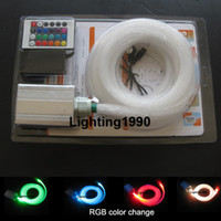 Wholesale optic fiber star ceiling kit strands mm m fiber W LED light source galaxy starry effect