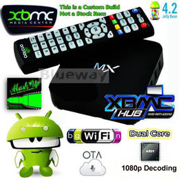 Wholesale MX MX2 Android Dual Core TV Box Original XBMC Midnight MX G RAM G ROM WiFi Sports XXX XBMC Fully Loaded Google TV