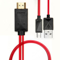 Wholesale New m Micro USB to HDMI MHL Cable Cord Adapter Full HD P for HDTV Mobile Phone Tablet