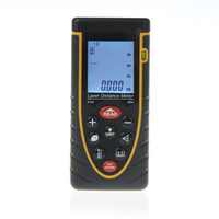 Wholesale 80m ft Handheld Laser Distance Meter Rangefinder Range Finder with Bubble Level Tape Measure Accuracy H10100