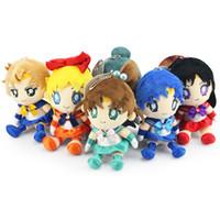 Wholesale Retail High Quality set Japan anime Sailor Moon Plush Stuffed Toys Key Chain keychain Cell Phone Pendant birthday Christmas gift