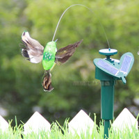 Wholesale Romantic garden colorful Decorations Solar hummingbirds colorful Solar Lamps hummingbird Lilium Lamp Landscape Flower Light A174L