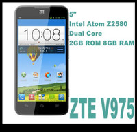 WCDMA Dual Core Android Original ZTE V975 Geek 3G 2GB RAM 8GB ROM 5.0'' IPS 1280x720p 8.0MP Android 4.2 WCDMA Cell Phone