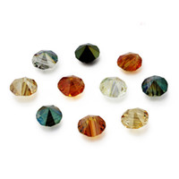 Crystal crystal beads drop - 250pcs Chinese Top A Grade Quality Faceted Crystal Glass Quartz x8mm Top Drilled Bicone Drops Spacer Loose Beads for Jewelry Making