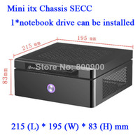 Wholesale MINI ITX HTPC vertical small computer chassis exquisite HD Mini H77 motherboard small host chassis w min itx computer case