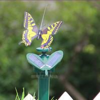 Wholesale Retail Solar Butterfly Kids LED Toys Solar Butterfly Simulation Flying Butterflies Kids LED Toys Grass Balcony A173L