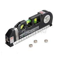 Wholesale New Multipurpose Bubbles Laser Level Horizon Vertical Measuring Tape FT Aligner Ruler Tool