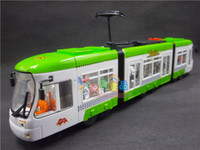 Wholesale Metro tram violence plastic toy electric cattle have bi city train tramway children s toys