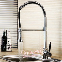 Wholesale Deck Mounted Chrome Brass Kitchen Faucet Single Handle Sink Mixer Swivel Spout