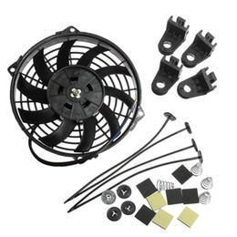 Wholesale 9 Inch Universal V W Slim Reversible Electric Radiator Cooling Fan Push Pull With mounting kit