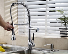 Wholesale Modern Chrome Brass Spring Kitchen Faucet Swivel Spout Sink Mixer Tap Deck Mount