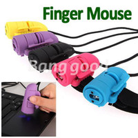 Wholesale New Colorful Mini Ghz DPI USB D Optical Finger Mouse Mice Ring For Laptop PC Computer Handheld