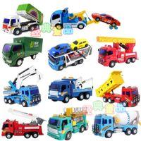 2-4 Years Red Metal Li Lee Engineering garbage truck fire truck mixer truck postal vehicles inertial plastic toy cars for children